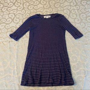 10/$10 Sale 🌈 F21 Girls Ribbed Navy Tshirt Dress